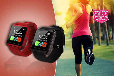 Toy Meets World - 12 in 1 Bluetooth smartwatch choose from black or red - Save 67%