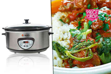 ViVo Technologies - 6.5 litre slow cooker - Save 78%
