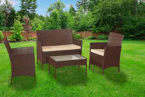 Rattan Trends - Four piece rattan garden sofa set, with a limited number available - Save 85%