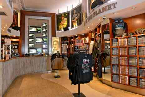 Ultimate Hard Rock Cafe - Dining Experience with Wine and Souvenir Tshirt for Two - Save 0%