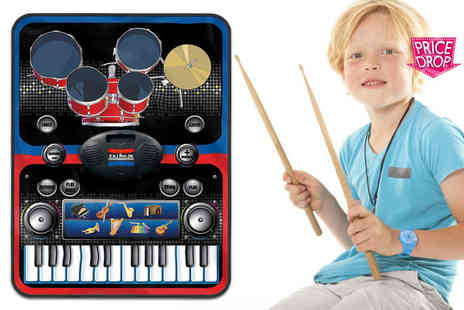 ViVo Technologies - Two In One piano and drums music jam play mat - Save 80%