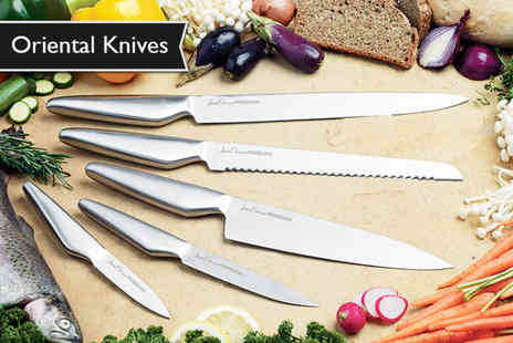 Jean Patrique - Five piece oriental knife set chop up a storm - Save 93%