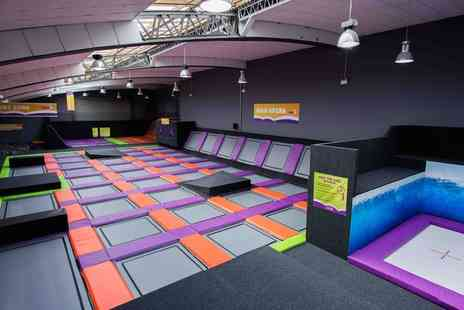Jump4 Trampoline Park - One Hour Jump Access for One, Two or Four - Save 25%