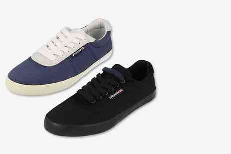 Blunts Shoes T/A Kidderminster Footwear - Unisex pair of Ellesse Portofino trainers select from two colours - Save 60%