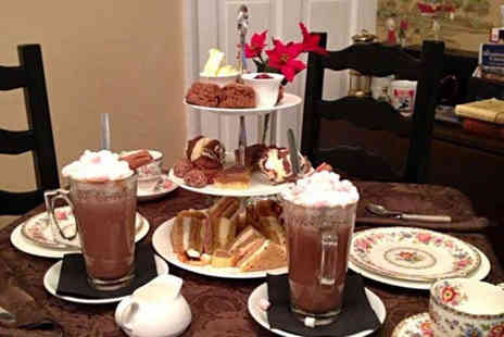Cuppas of Rothley - Chocoholics afternoon tea for two with hot chocolate, scones and more - Save 53%