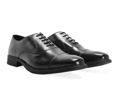 Shoeprimo - Pair of mens smart black shoes choose from Oxford and Gibson styles - Save 86%