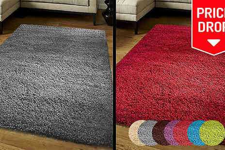 Funky Buys - Shaggy Rug in 4 Sizes and 9 Colours - Save 73%