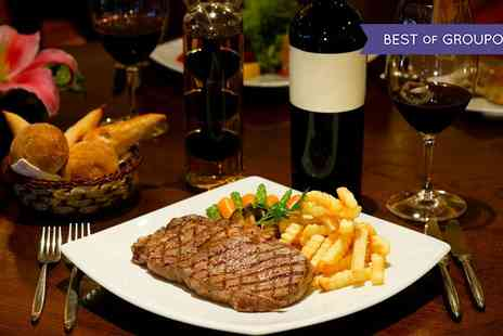 Doubletree Hilton - Steak Meal with Wine or Beer for Two or Four - Save 0%