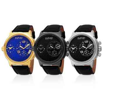 Buy Bay - Mens AS8151 leather strap watch choose from three designs - Save 82%