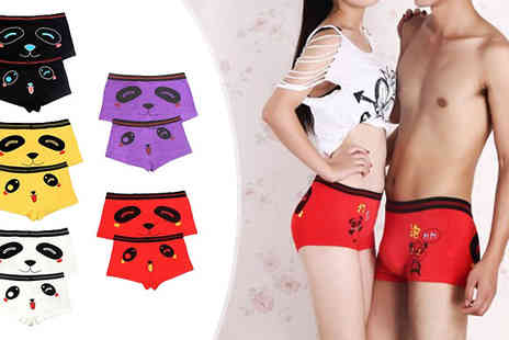 Richardson Group - His and Hers Panda Print Underwear Set in 5 Colours - Save 47%
