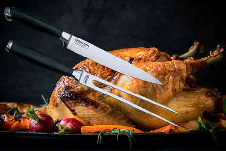 Dream Price Direct - Professional stainless steel meat carving knife and fork - Save 80%