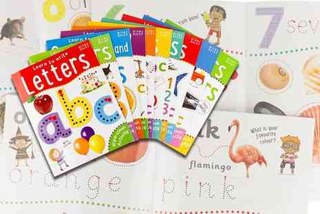 Price Cut Books - Set of ten kids wipe clean learn to write activity books - Save 67%
