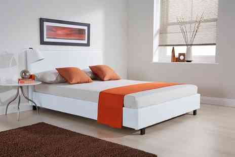 Groupon Goods Global GmbH - Bed Frame With Mattress Plus Duvet Set With Free Delivery - Save 0%