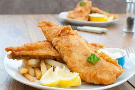 the waterford arms - Eight or 12 Ounce Fish and Chips with Mushy Peas and Tartar Sauce for Two - Save 33%