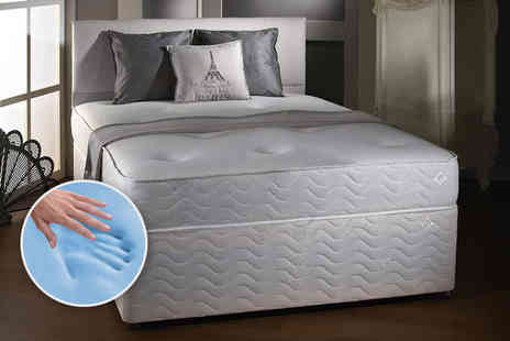 Midnight Dreams - Single, small double or double or king size Cool Blue memory sprung mattress - Save 83%