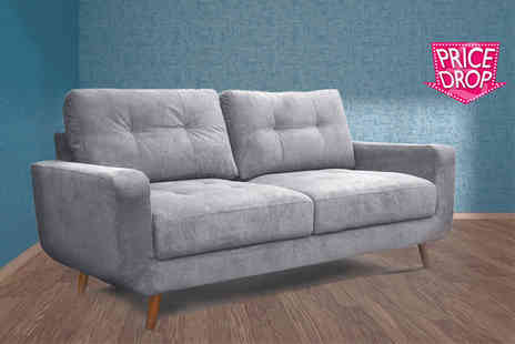 Maymun - Two or three seater Aurora fabric sofa - Save 86%