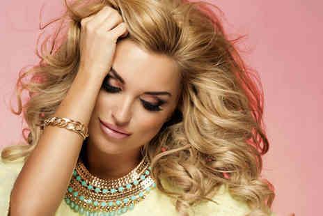 Glowing Salon - Hair wash, cut and blowdry with a full head of highlights - Save 70%