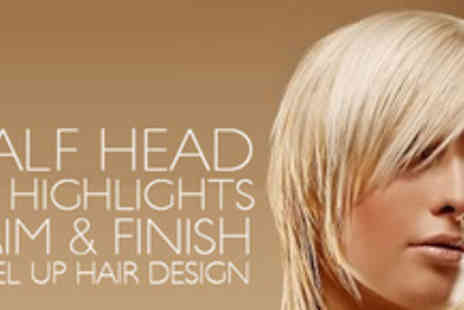 LEVEL UP Hair Design - Treat yourself with a stunning new look with half a head of highlights, a trim and finish - Save 50%
