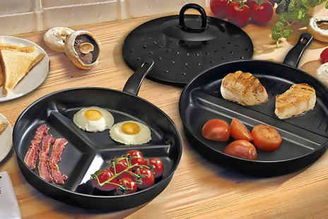 Zenith Wholesale - Set of two divider frying pans - Save 75%