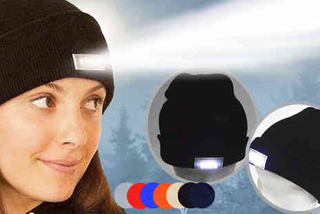 Intradify - LED Headlamp Beanie Six Colours - Save 72%