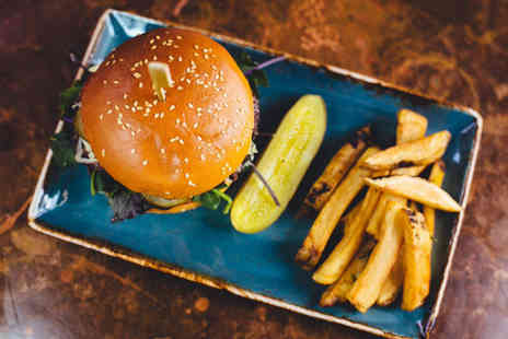 Smoak BBQ - Burger, hot dog or sandwich and fries meal for two people - Save 58%