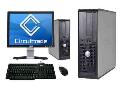 Circuit Computers - Dell 755 Optiplex PC with a 17 Inch flat screen monitor or Dell 580 Optiplex PC with 19 Inch flat screen monitor - Save 0%