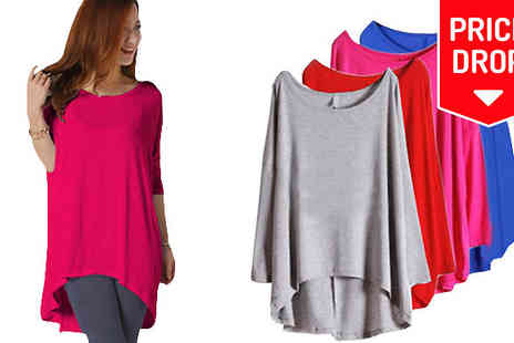 Shapelle - Loose Long Sleeve Casual Top Available in Four Colours And Four Sizes - Save 70%