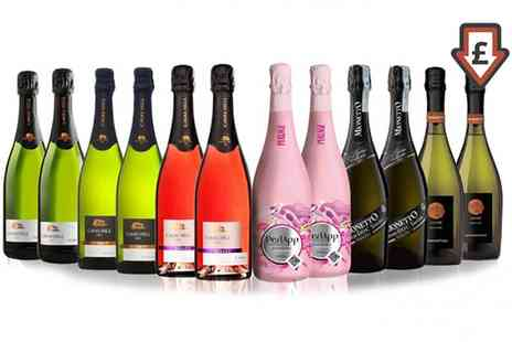 IBERVILLA FINE FOODS  SAN JAMON - 12 Bottle Mixed Case of Prosecco, Cava and Sparkling Wine for £62.99 With Free Delivery - Save 52%
