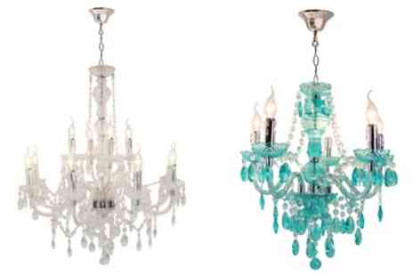 Groupon Goods Global GmbH - Princess Chandelier for Candle Style Bulbs With Free Delivery - Save 31%