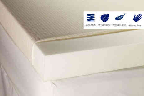 The Sleep People - 5cm thick memory foam mattress topper - Save 76%