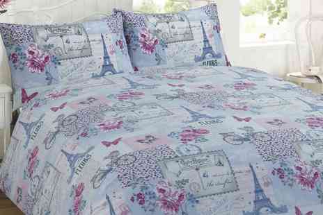 Groupon Goods Global GmbH - Parisienne Patchwork Duvet Set in Choice of Colour and Size - Save 71%