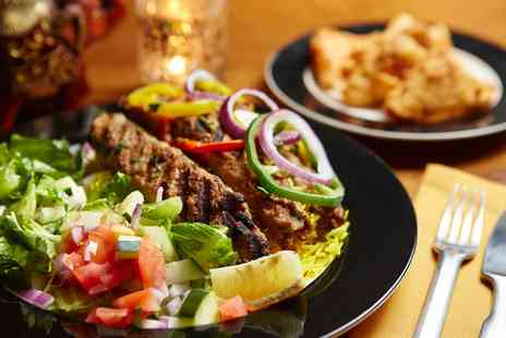 Aamaya - Two Course Indian Meal with Sides for Two or Four - Save 50%