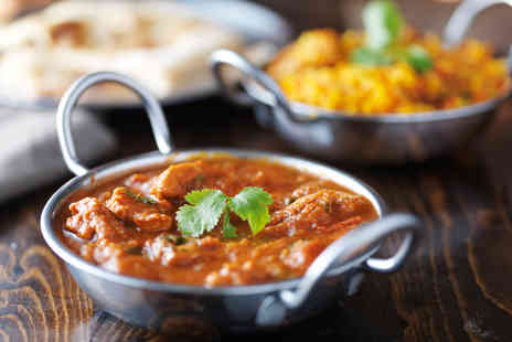 Mogal E Azam - Indian fine dining for two including a main dish, side dish and a glass of Prosecco each - Save 35%