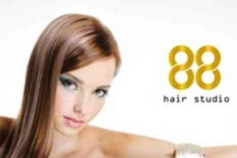 88 Hair Studio - Half Head Highlights or Full Head Colour With Cut, Finish and Paul Mitchell Conditioning Treatment - Save 66%