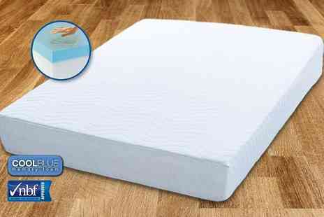 My Mattress Online - Single, small double, double or king size Comfort CoolBlue memory foam mattress - Save 82%