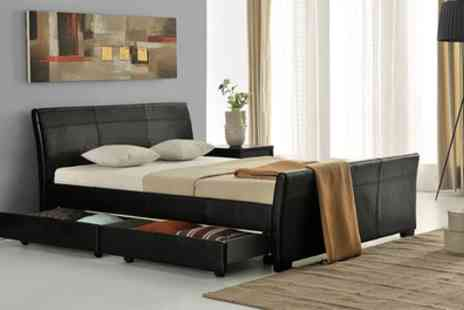 Groupon Goods Global GmbH - Designer Venetian Storage Bed Plus Mattress With Free Delivery - Save 57%