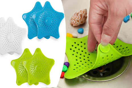 ugoagogo - Starfish Drain Savers Available in Three Colours - Save 80%