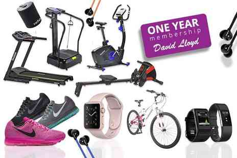 Wowcher Direct - Fitness Mystery Deal for One Year David Lloyd Membership, Fit Bit, Apple Watch, Nike, Veho and more - Save 0%