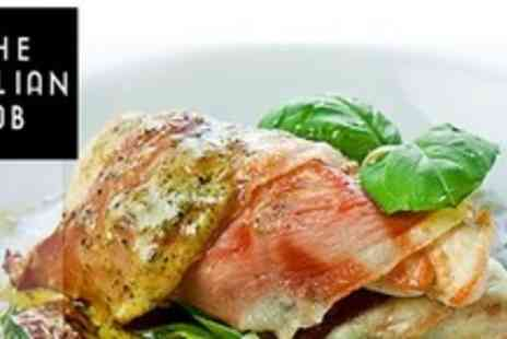 The Italian Job - Two Courses For Four With Drinks - Save 64%
