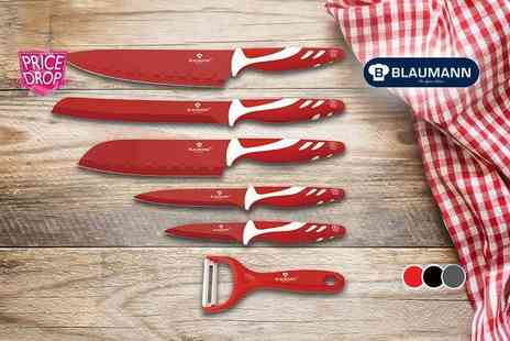 Meadow Vale - Berlinger Haus six piece culinary set choose black, grey or red - Save 84%