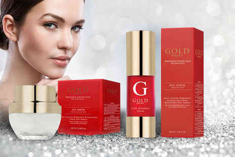 Gold Serums - Pure anti ageing snail essence face serum or eye serum or both - Save 33%