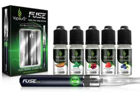 Vapouriz - Vapouriz Fuse E Cigarette Starter Kit with E Liquids With Free Delivery - Save 56%