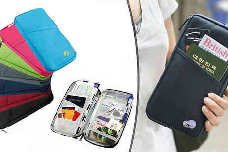 Fakurma - Passport and Travel Document Organiser Available in Seven Colours - Save 90%