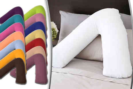 ADAM LINENS - V shaped orthopaedic pillow select from 15 colours - Save 68%