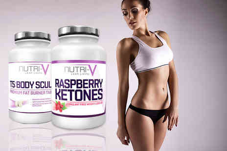 Nutri V - One month supply of raspberry ketones and Fat Burners - Save 80%