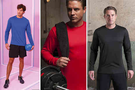 Treats on Trend - Mens long sleeved training top choose from three colours - Save 64%