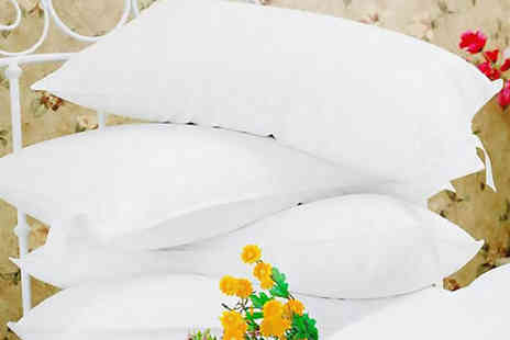 Omeco Limited - Four goose feather & down pillows - Save 81%