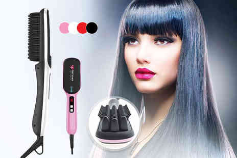 Hair Extension Lovers - Premium next gen hair straightening brush - Save 73%