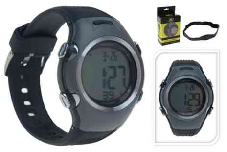 Groupon Goods Global GmbH - XQ Max Water Resistant Sports Watch with Heart Rate Monitor With Free Delivery - Save 0%