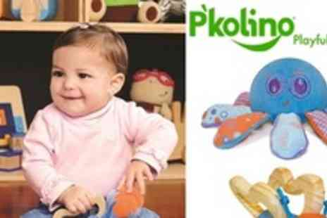 Gander Kids - Innovative 2 in 1 Teether and Twirling Top Toys Plus further savings on great Interactive Play Rugs - Save 40%